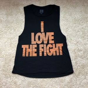 I Love The Fight Muscle Tank
